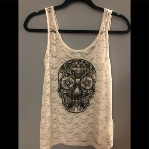 H&M Divided Skull Lace Tank Top